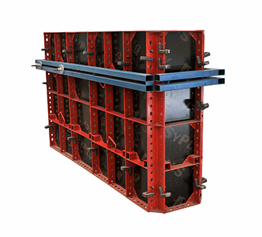Steel Faced Column-Curtain Wall Formwork System