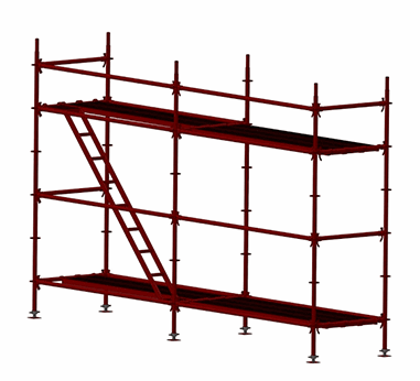 Portiround Ringlock Facade Scaffolding System