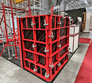 Polex Panel (Light) Type Column-Curtain Wall Formwork System